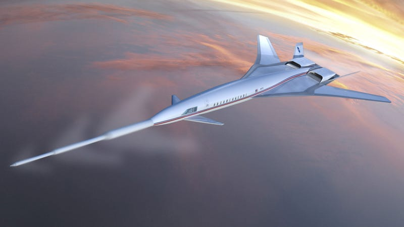 Illustration for article titled The Weird Supersonic Plane That Will Not Boom