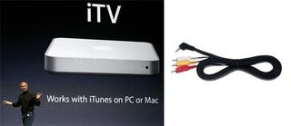 Illustration for article titled Valleywag Gadget Curmudgeon Bludgeon: Apple iTV vs Piece of Sh1t Cable