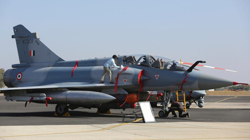 An Indian Air Force Mirage 2000 fighter of the same type that carried out the air raid on Pakistan on February 24, 2019.