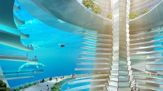 Illustration for article titled This amazing floating underwater city may become a reality in China
