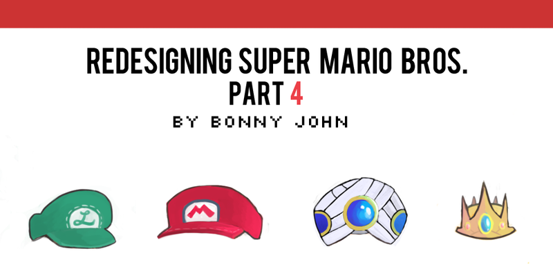 Illustration for article titled Redesigning Super Mario Bros. Part 4