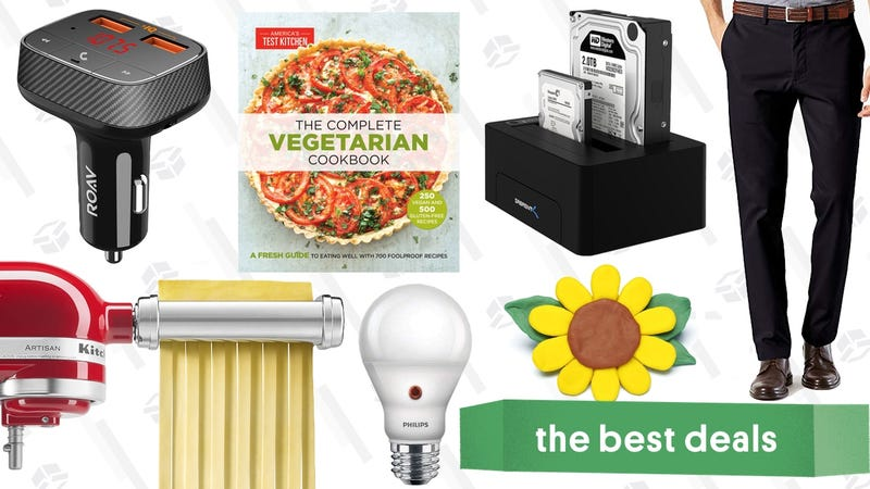 Illustration for article titled Monday's Best Deals: Discounted Levi's, KitchenAid Pasta Rollers, Kindle Cookbooks and More