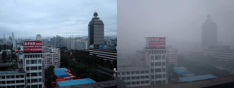 Imagen de Beijing y el problema de la polución. Wikimedia Commons