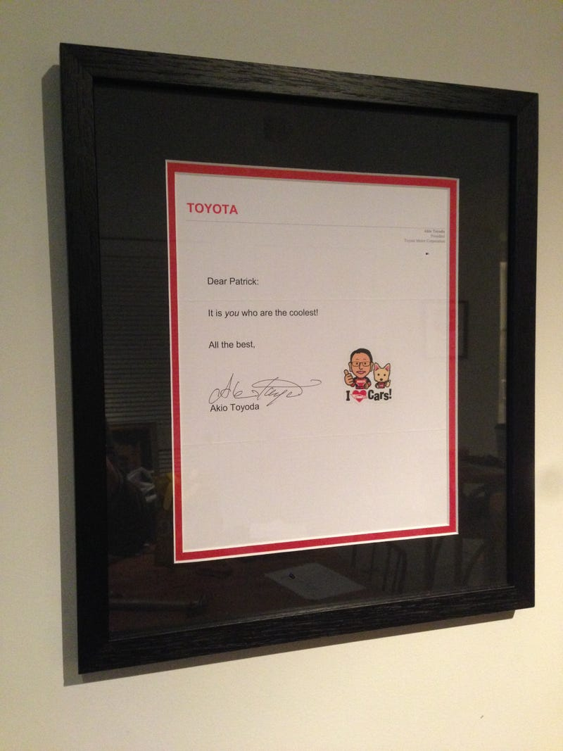Illustration for article titled My Living Room Is Akio Toyoda-Official Now