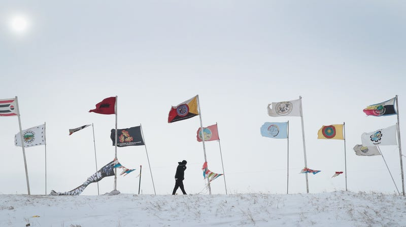 Never forget Flag Road of the Oceti Sakowin Camp in North Dakota, at the height of the protests against the Dakota Access Pipeline.