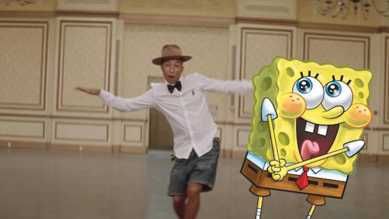 Illustration for article titled Pharrell and N.E.R.D. recorded a song for the new SpongeBob movie, compare it to The Beatles