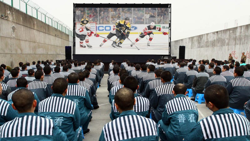 Illustration for article titled Chinese Officials Respond To NBA Controversy By Moving Millions Of Citizens To NHL Re-Fanification Camps