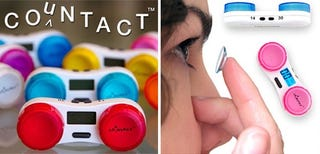 Illustration for article titled Countact Lens Case Keeps An Eye On Your Contact's Lifespans