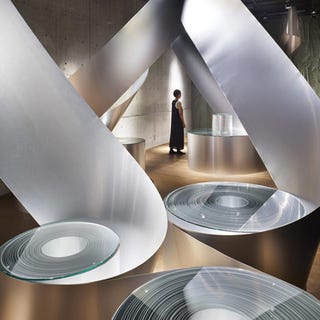 Illustration for article titled Aluminum Rolls Uncoil For An Artistic Metallic Labyrinth