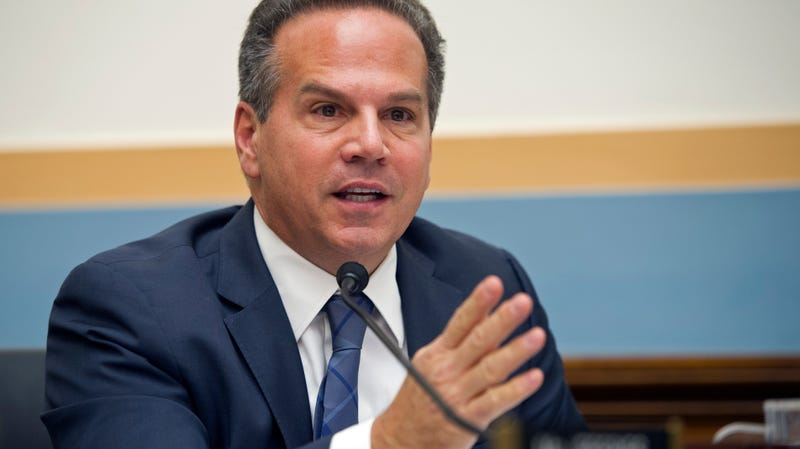 U.S. Representative David Cicilline, head of the House Judiciary Committee's subcommittee on antitrust and the lead legislator on the investigation, seen here at a 2014 hearing on YouTube.