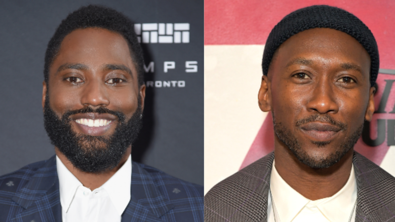 (L-R) John David Washington attends Entertainment Weekly's Must List Party at the Toronto International Film Festival 2018 on September 8, 2018 in Toronto, Canada.; Mahershala Ali stops by DIRECTV House presented by AT&T during Toronto International Film Festival 2018 on September 10, 2018 in Toronto, Canada.