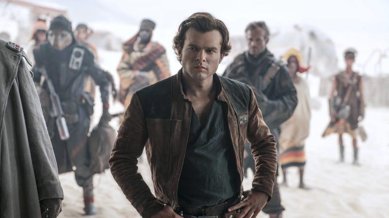 Alden Ehrenreich as Han Solo.