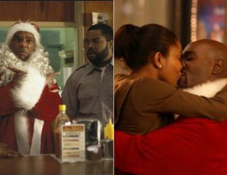 John Witherspoon and Ice Cube in Friday After Next (IMDB.com); Gabrielle Union and Morris Chestnut in A Perfect Holiday (IMDB.com)