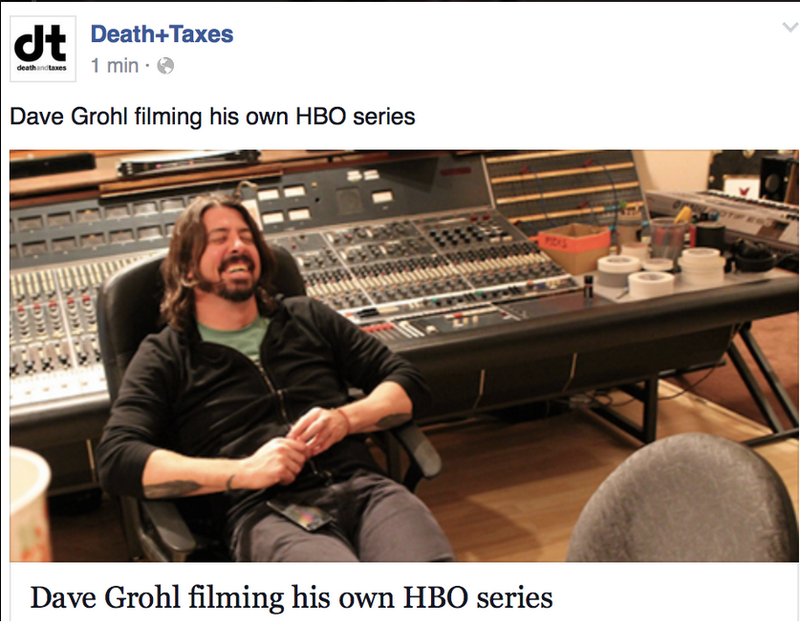 Illustration for article titled Dave Grohl filming his own HBO series