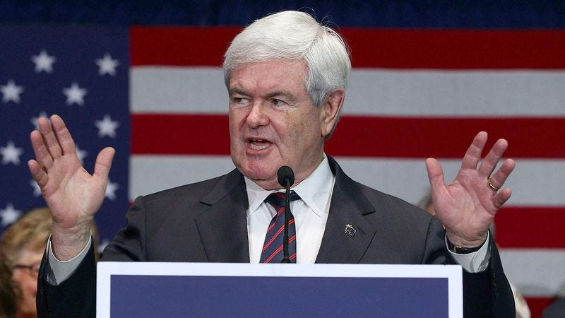 Illustration for article titled Gingrich Urges Romney To Drop Out So He Can Focus On General Election