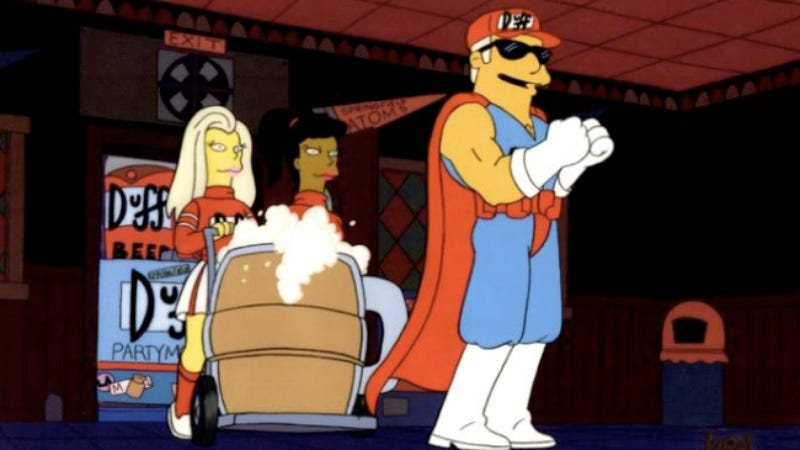 Illustration for article titled There's finally an official Duff Beer, but you can only get it in Chile