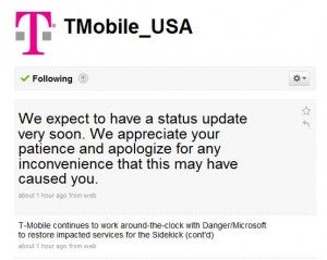 Illustration for article titled The Great T-Mobile Sidekick Data Outage of 2009 Could End Monday, Maybe