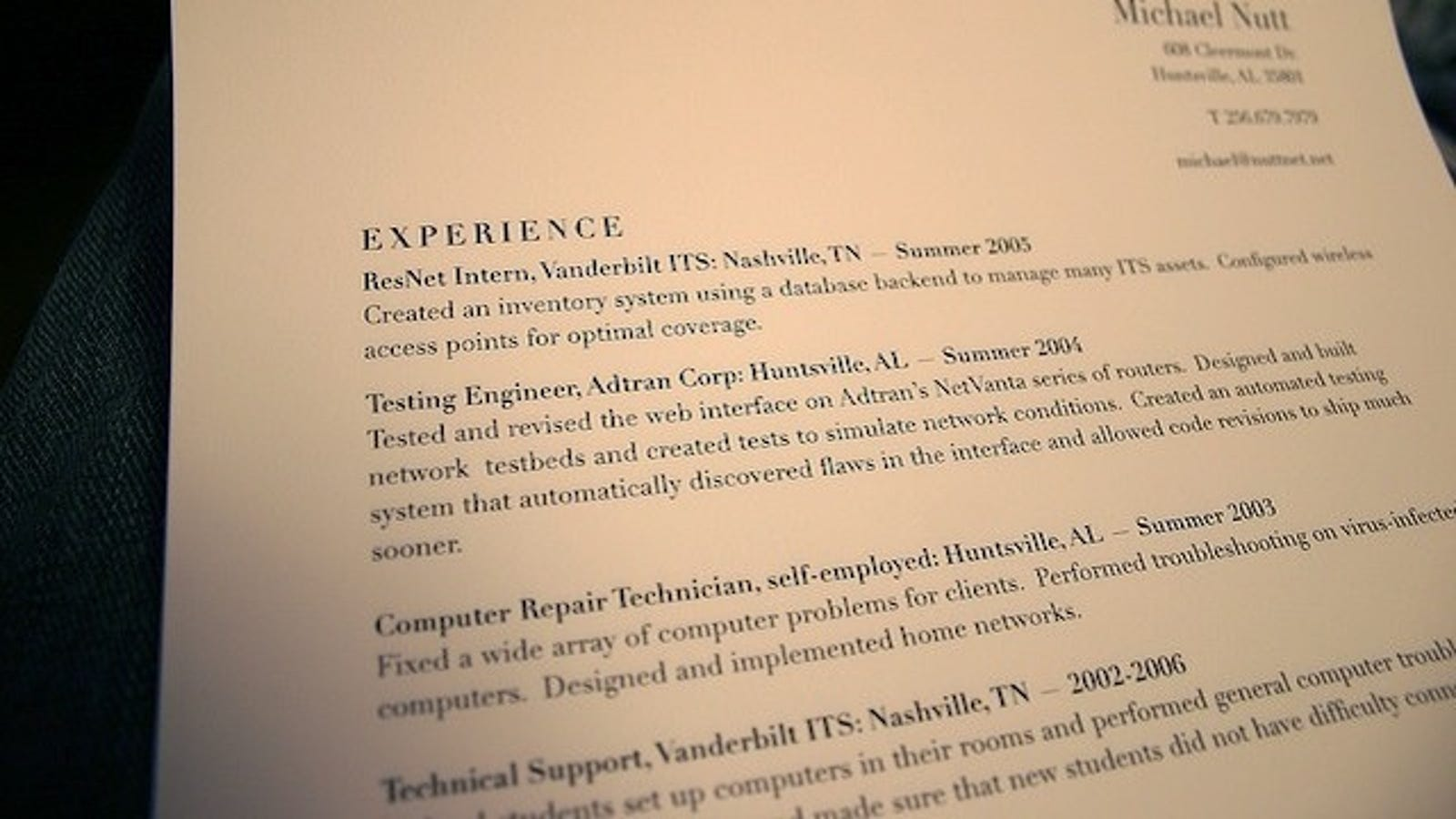 create resume templates to save time  avoid sending out the same resume