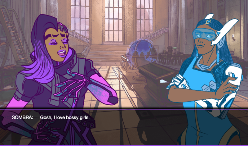 Illustration for article titled Symmetra's Qualifying Matches Is A Delightful Overwatch Dating Sim