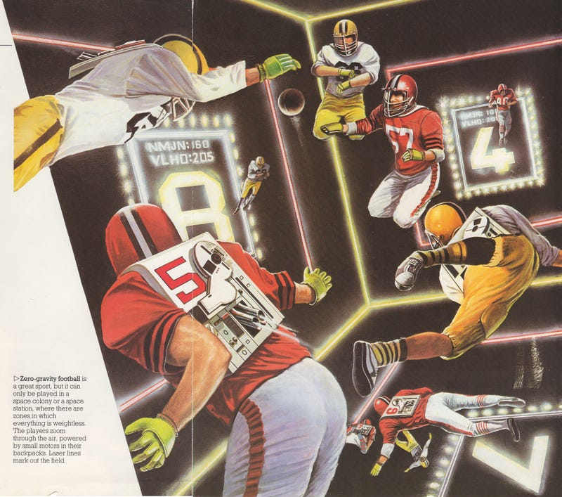 Illustration for article titled What Time Is the Zero-Gravity Super Bowl?