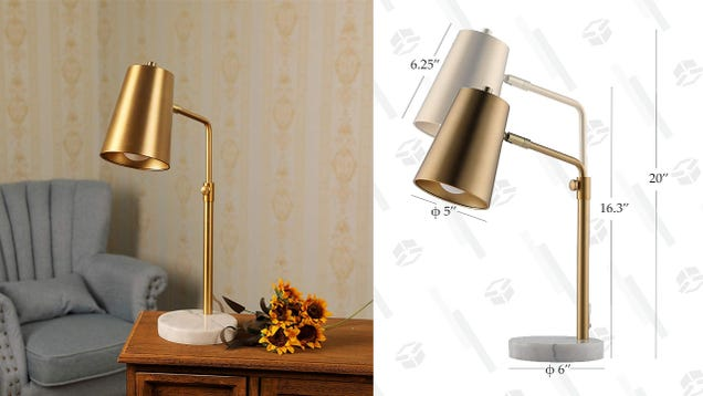 Class Up Your Reading Area With This Discounted Desk Lamp
