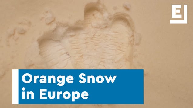 Orange Snow Turns Europe Into a Martian Landscape