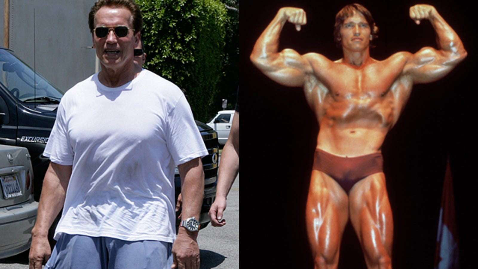 Arnold Schwarzenegger Now And Before Body