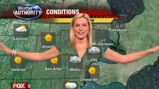 Illustration for article titled A Weather Woman's Clothes Disappeared on Live TV