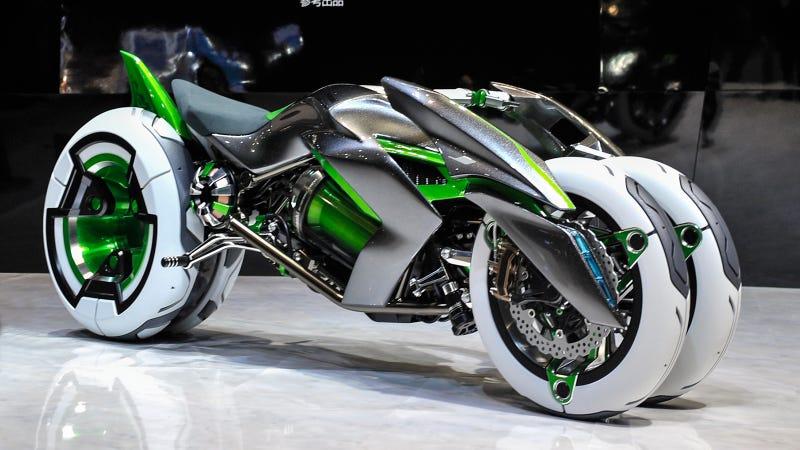 Illustration for article titled La nueva moto de Kawasaki venida del futuro