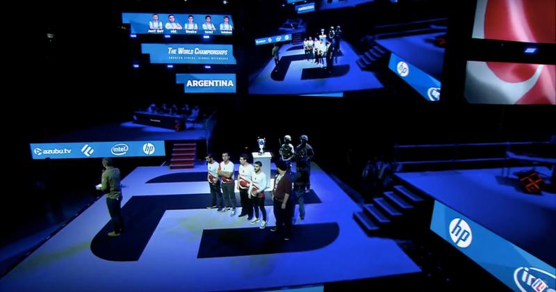 Team Argentina at the CS:GO World Championships (via YouTube)