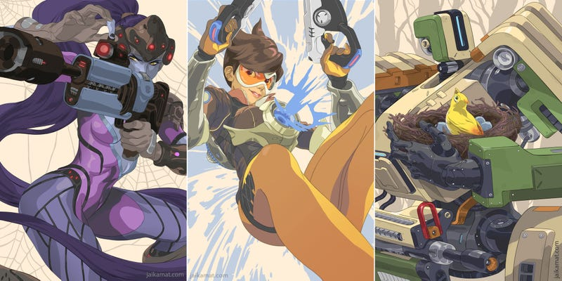 Illustration for article titled Portraits Of Overwatch Heroes