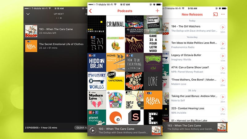 Illustration for article titled Pocket Casts for iPhone Gets a New Look, Adds Volume Boost, Dark Theme, and More