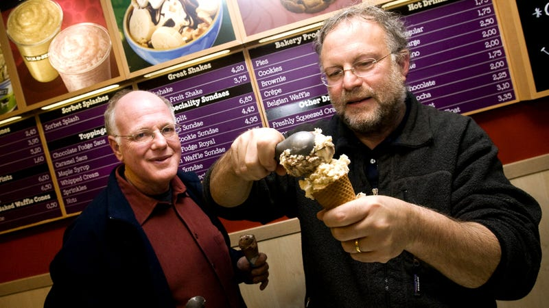 Ben & Jerry's founders Ben Cohen and Jerry Greenfield,