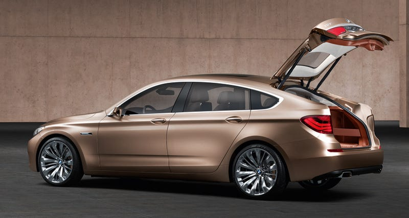 Illustration for article titled BMW 5-Series GT Concept Officially Shows Off Flexible Rear