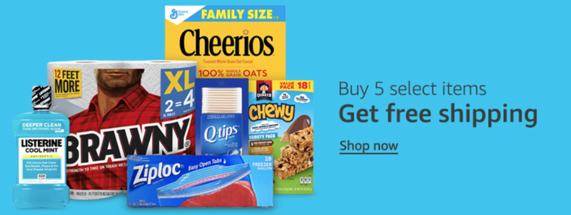 Buy Five Items, Get Free Shipping