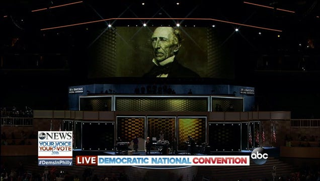 Hillary Clinton Explodes Onto Screen for First DNC Appearance