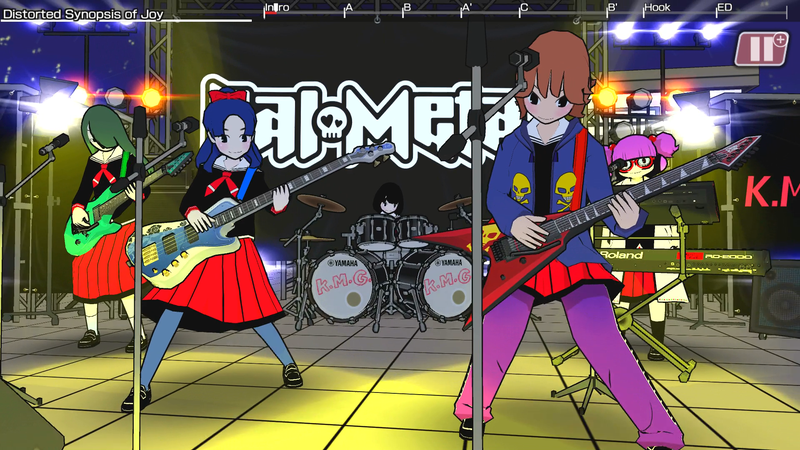 Illustration for article titled Gal Metal Is A Very Strange Rhythm Game, Which Is The Best Kind