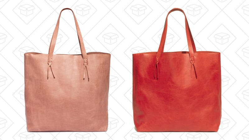 e6ce80d978 The Best Carry-All Leather Tote Bag is On Sale at Madewell