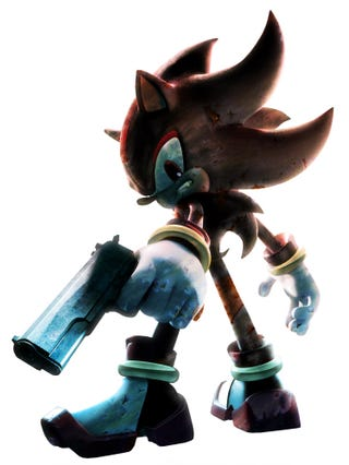 Illustration for article titled Gunfusion: They Gave Sonic The Hedgehog A Handgun, Sort Of