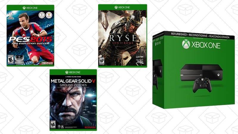 Refurb Xbox One 500GB + Ryse Son of Rome + Metal Gear Solid V Ground Zero + Pro Evolution Soccer 2015, $174