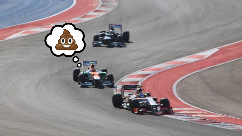 Illustration for article titled The Jalopnik Guide To Pooping At The United States Grand Prix