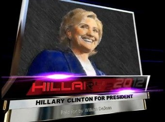 "Illustration for article titled Clingy Chicago Dentist Creates ""Hillary 2012"" Ad"