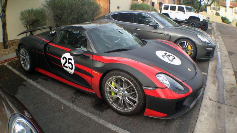 two porsche 918 spyders are in arizona right now. Black Bedroom Furniture Sets. Home Design Ideas