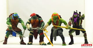 Illustration for article titled First look at the action figures of Michael Bay's TMNT