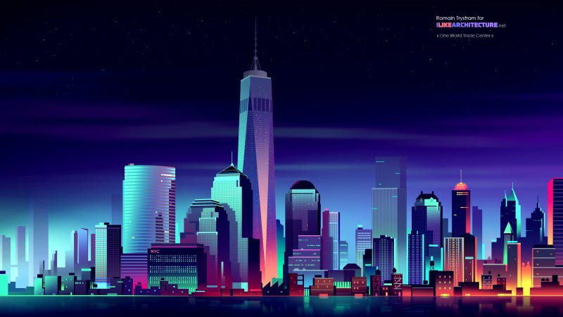 Illustration for article titled This Tron-like World Trade Center Is My Everything