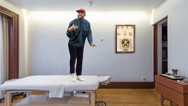 Kanye West Jumps On Massage Table To Deliver Speech About Relaxation