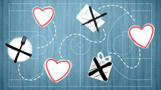 Illustration for article titled A Valentine's Day Playbook For The Multitasking Basketball Fan