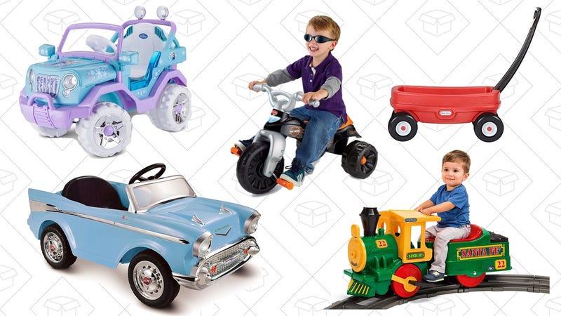 Ride-On Kid Toys Gold Box  | Amazon