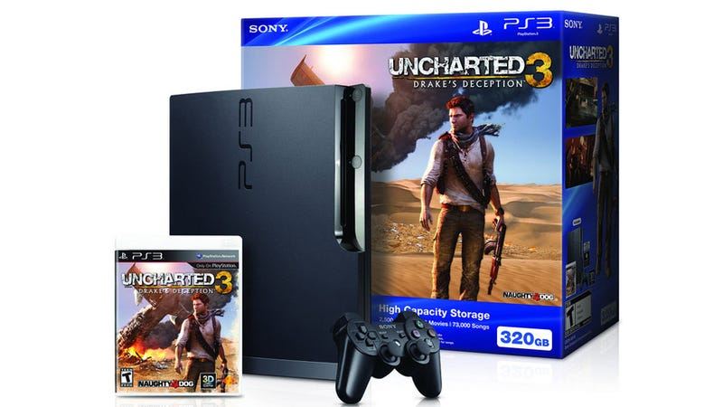 Illustration for article titled There's an Uncharted 3 PS3 Bundle, With not a Hideous Controller In Sight