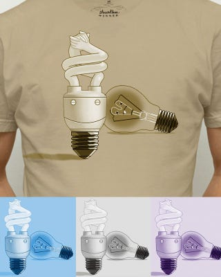 Illustration for article titled 'CFL FTW' Illuminates the Tragedy Behind Lightbulb Progress